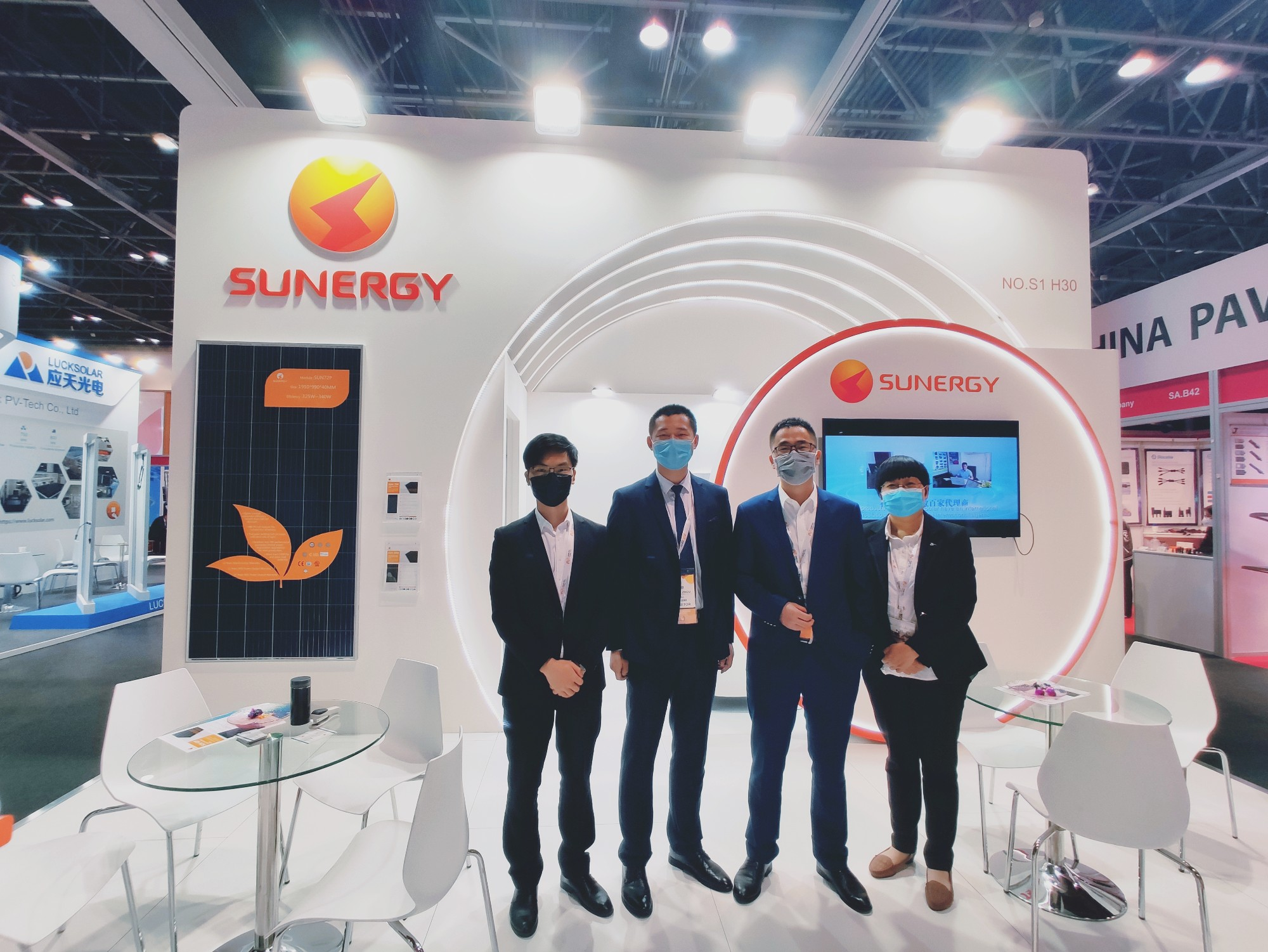 Sunergy attend the MEE with our new series half-cell 9BB module